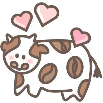 牛微笑咖啡豆動物臉