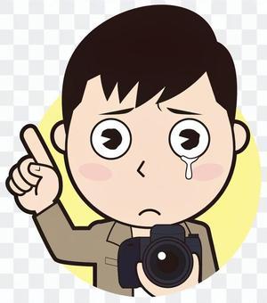 指著男攝影師(哭)