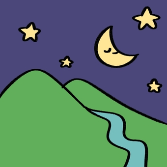 Moon and mountain background