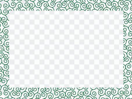 당초 무늬 프레임 4
