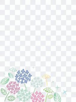 雨季繡球花背景素材3