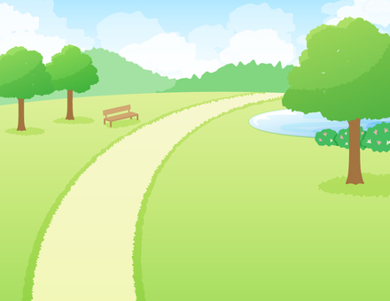 Scenery of a park with trees _ Green