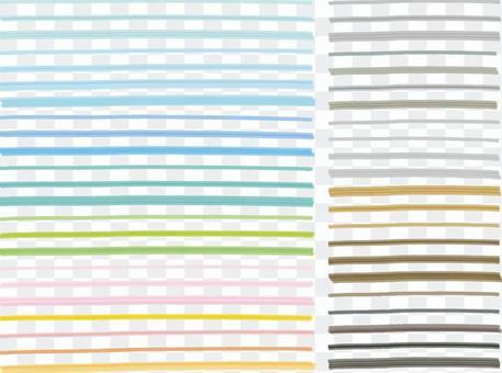 水彩彩色筆線裝飾初夏和春季顏色標題