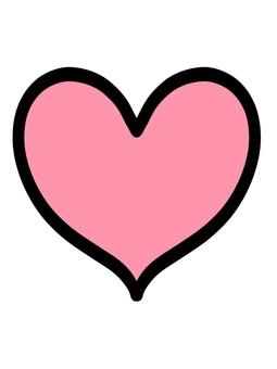 帶邊框的心粉色