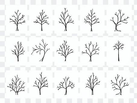 Tree landscape handwriting (black and white)