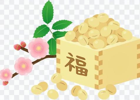 Setsubun _ plum和Hiiragi