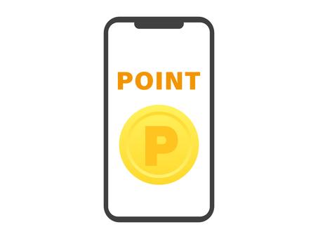 顯示點硬幣的智能手機