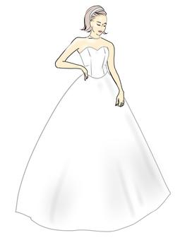 婚紗,A線