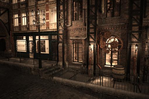 Magical country night street corner