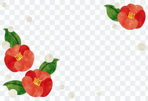 冷查詢框架/紅色山茶花