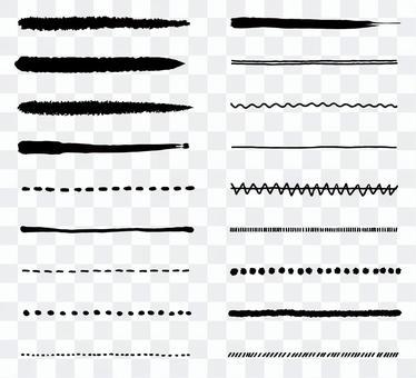 Handwritten line set