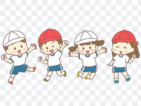 兒童穿運動服