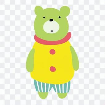 Bear in clothes