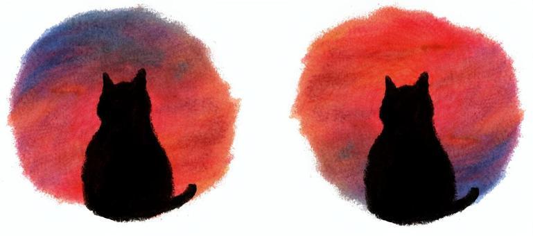 日落貓和日出貓