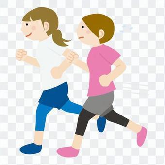 女人慢跑1