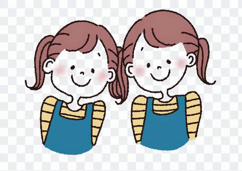 双子 女の子