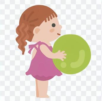 Children playing with ball