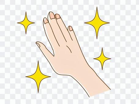 Hand glitter
