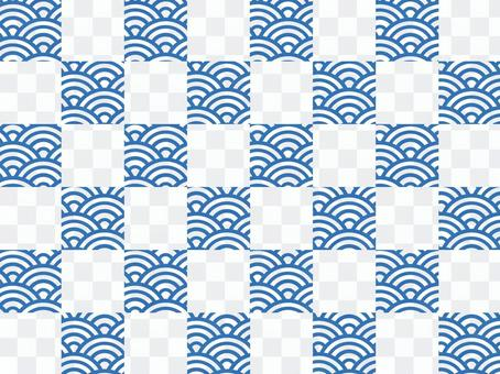 【和柄×和柄】市松×青海波:青