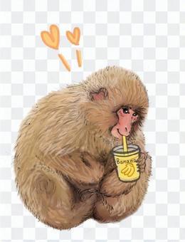 香蕉汁,香蕉奶昔喝猴子