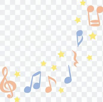 Cute music notes-pastel colors red blue yellow 3 colors