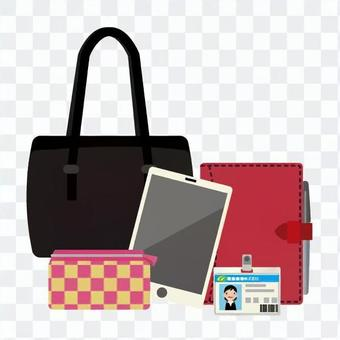 Contents of business bag (women)
