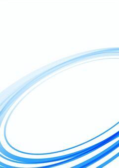 シンプルな曲線背景 青