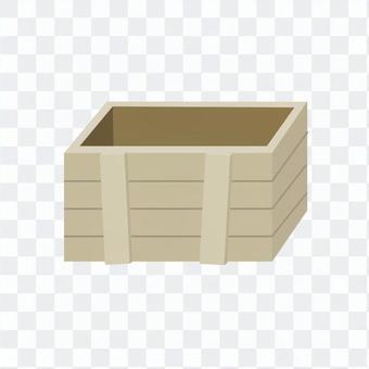 使い道いろいろ木箱のイラスト1