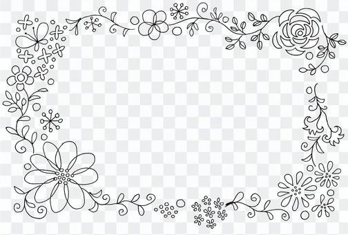 草花单色羽