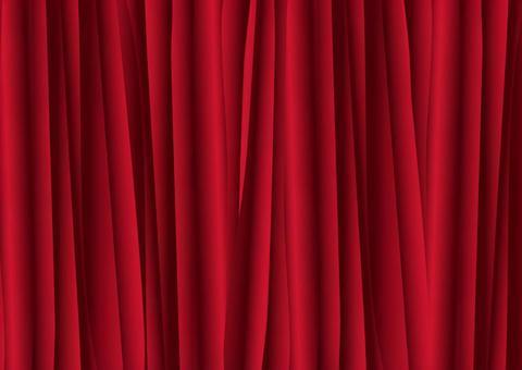 懸垂窗簾紋理紅色