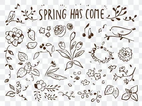 春季手寫材料