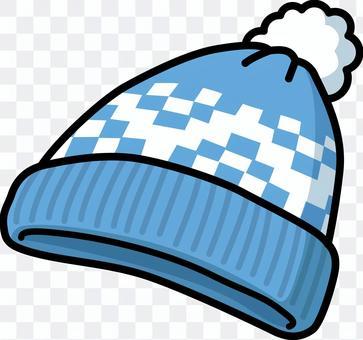 針織帽2(藍色)