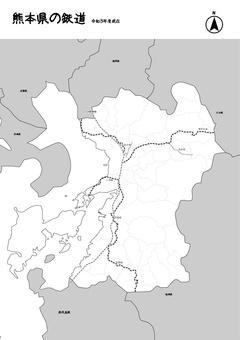 熊本鐵路鐵軌日本地圖黑白