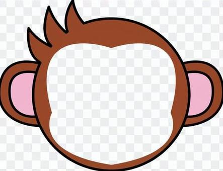 Face female monkey male