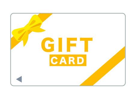 黃色禮品卡