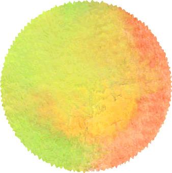 Watercolor pattern Orange type