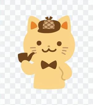 猫の探偵キャラクター