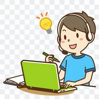 Boys taking online lessons 2