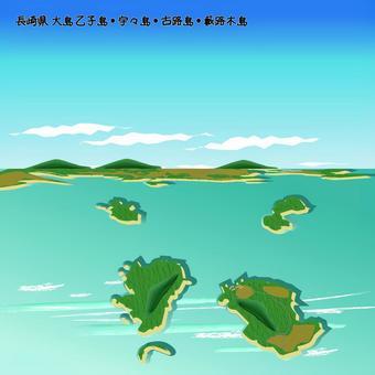 長島縣大島音島島Uushima Korojima