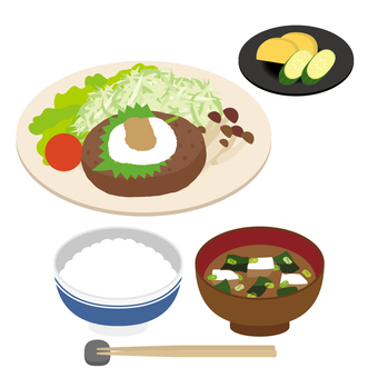 日式漢堡套餐