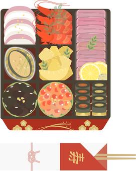 osechi 菜餚 07 的插圖