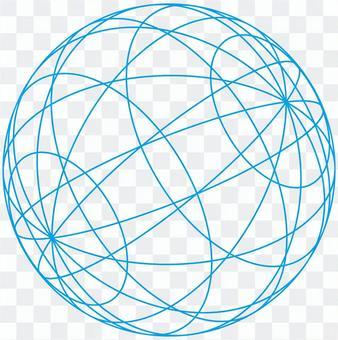 球(藍色框架)