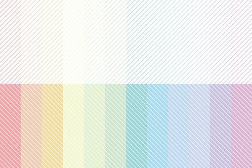 虹彩點線條紋