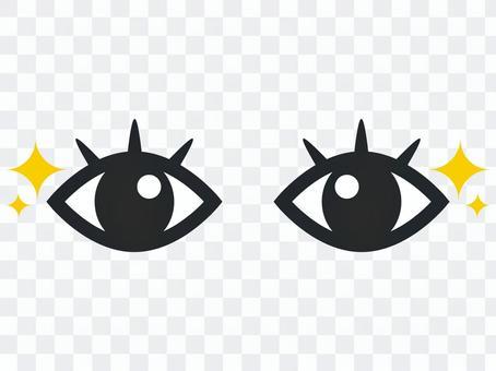 Glitter eyes eyes beautiful illustration material