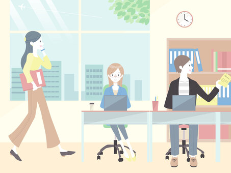 オフィスで働く人たち