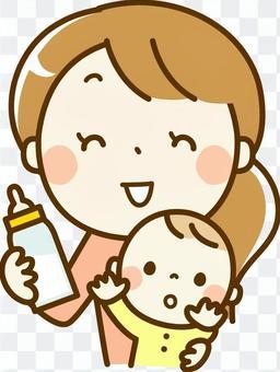 寶貝和媽媽的牛奶時間