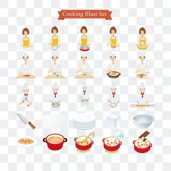 烹飪的插圖