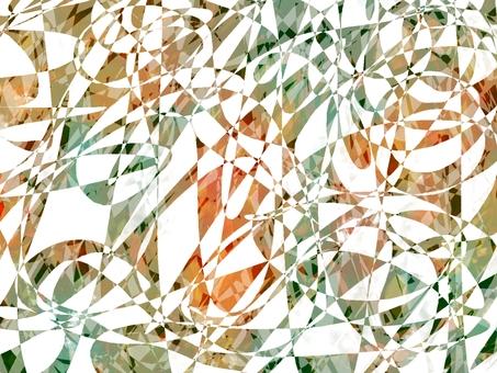 綠色和橙色的閃光寶石紋理背景