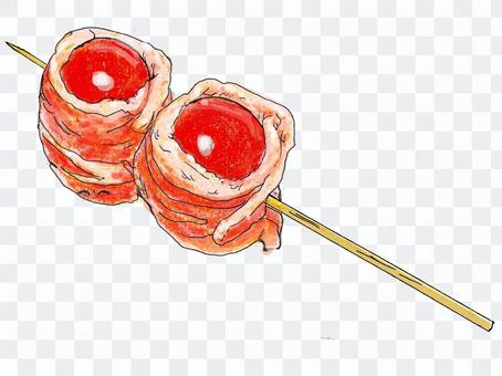 居酒屋メニュー・豚バラトマト