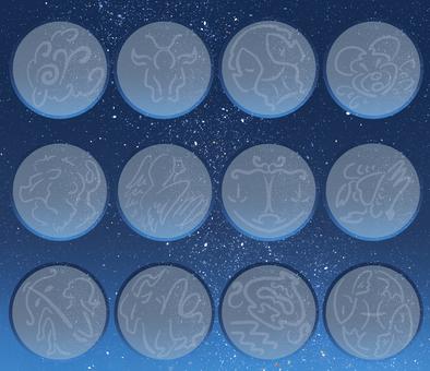 Twelve constellations / frame